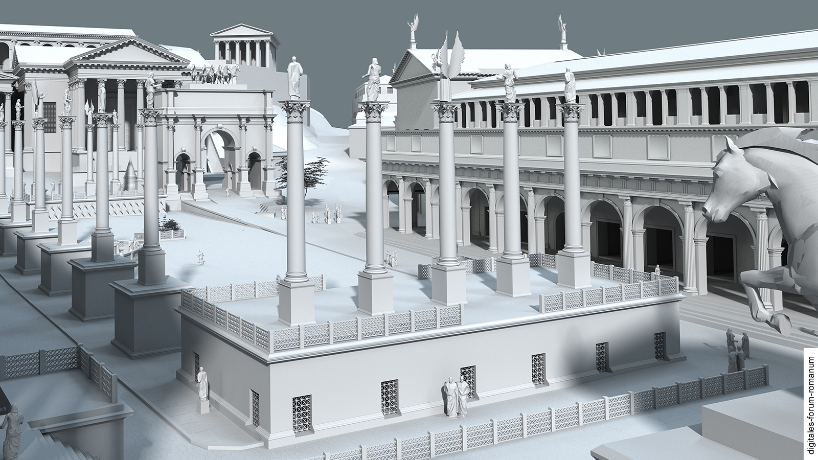 Project - Digitales Forum Romanum |Forum Romanum 3d